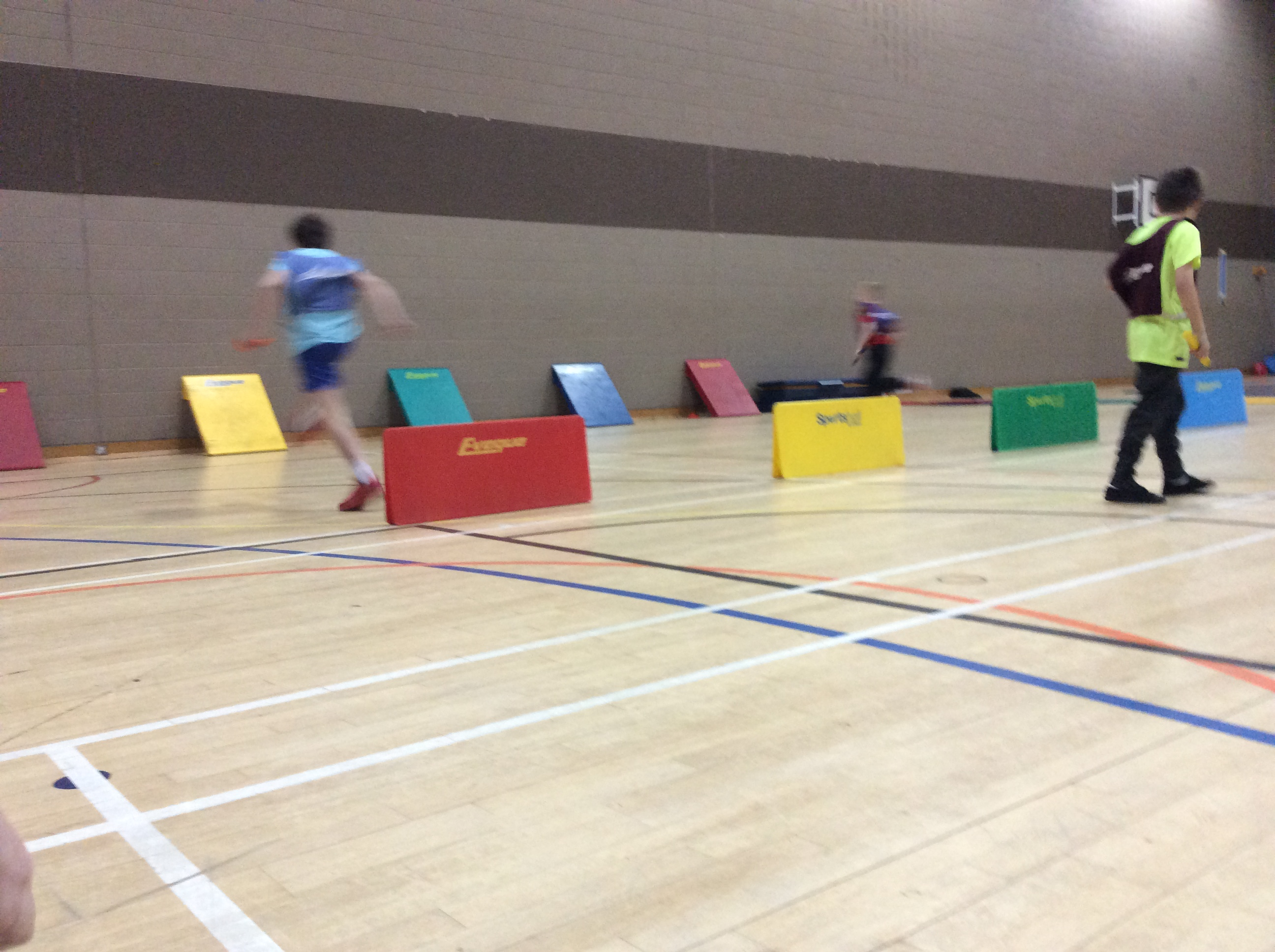 Running in the Obstacle Relay
